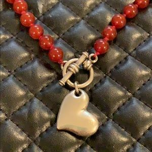 Sundance Crystal & Sterling Heat Toggle Necklace